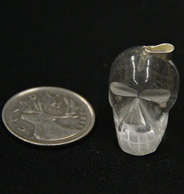 "Clear Quartz Skull Pendant 1"""