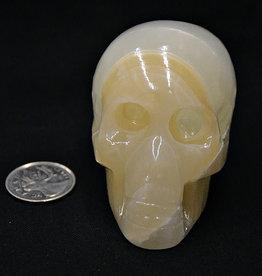 """Amber Aragonite Skull 3"""""""