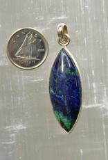 Azurite Pendant Sterling Silver