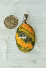 Bumble Bee Jasper Pendant C Sterling Silver