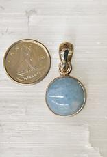 Aquamarine B Pendant Sterling Silver