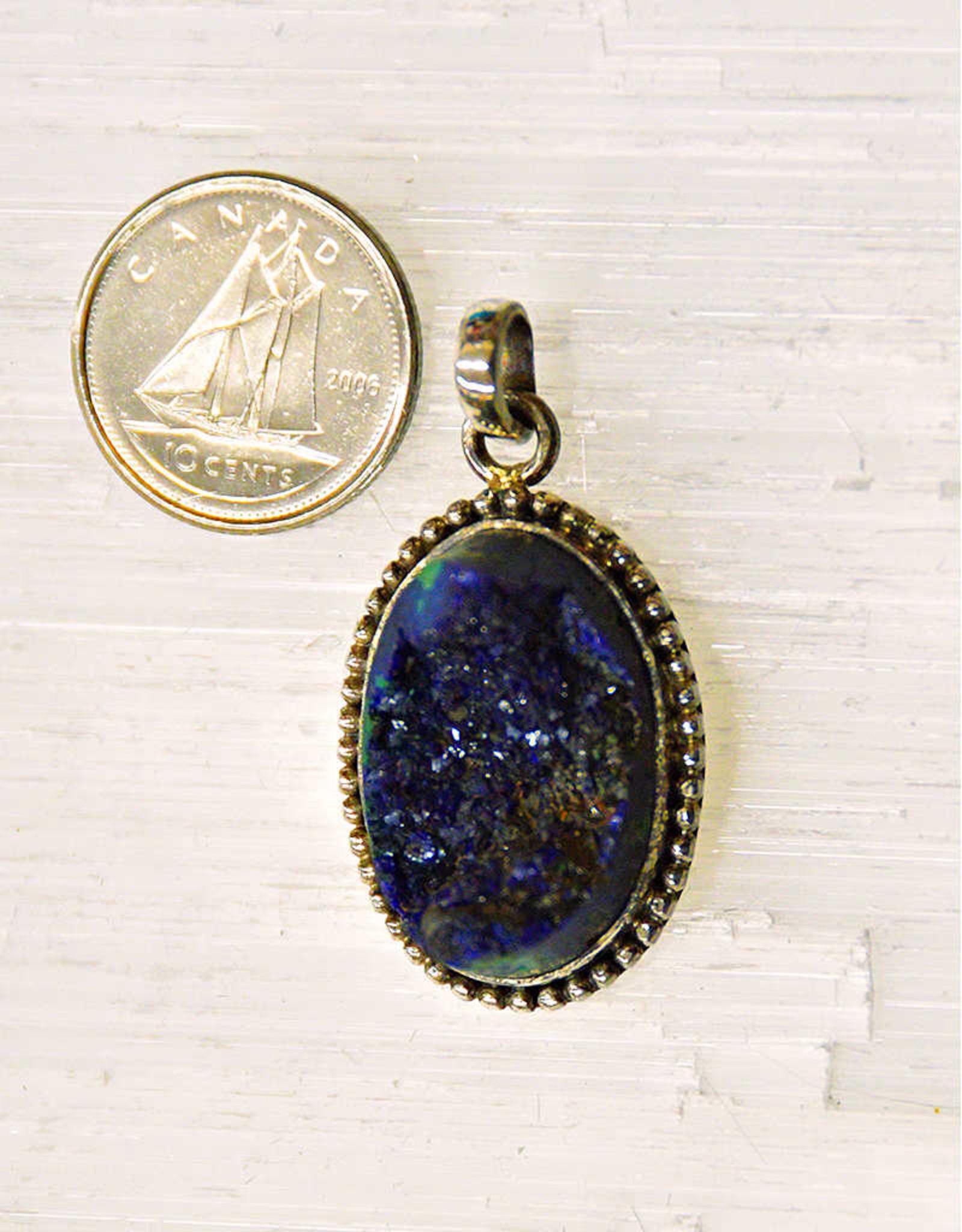 Azurite & Malachite Pendant Sterling Silver