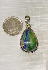 Azurite & Malachite B Pendant Sterling Silver