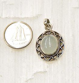 Aquamarine Pendant Sterling Silver