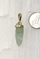 Aquamarine Pendant D Sterling Silver