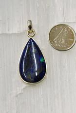 Azurite E Pendant Sterling Silver