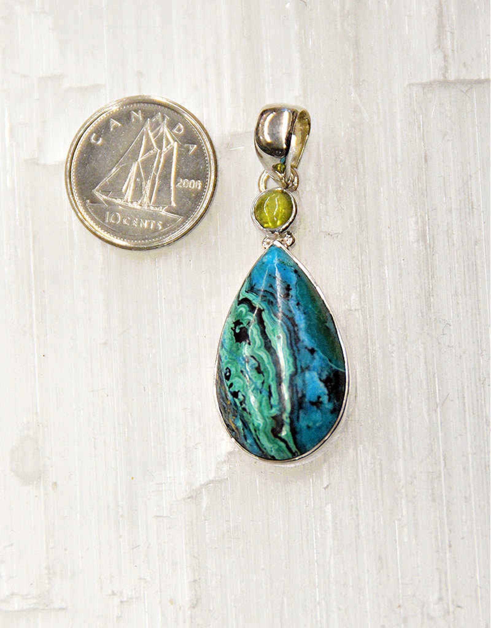 Azurite & Malachite Pendant G Sterling Silver