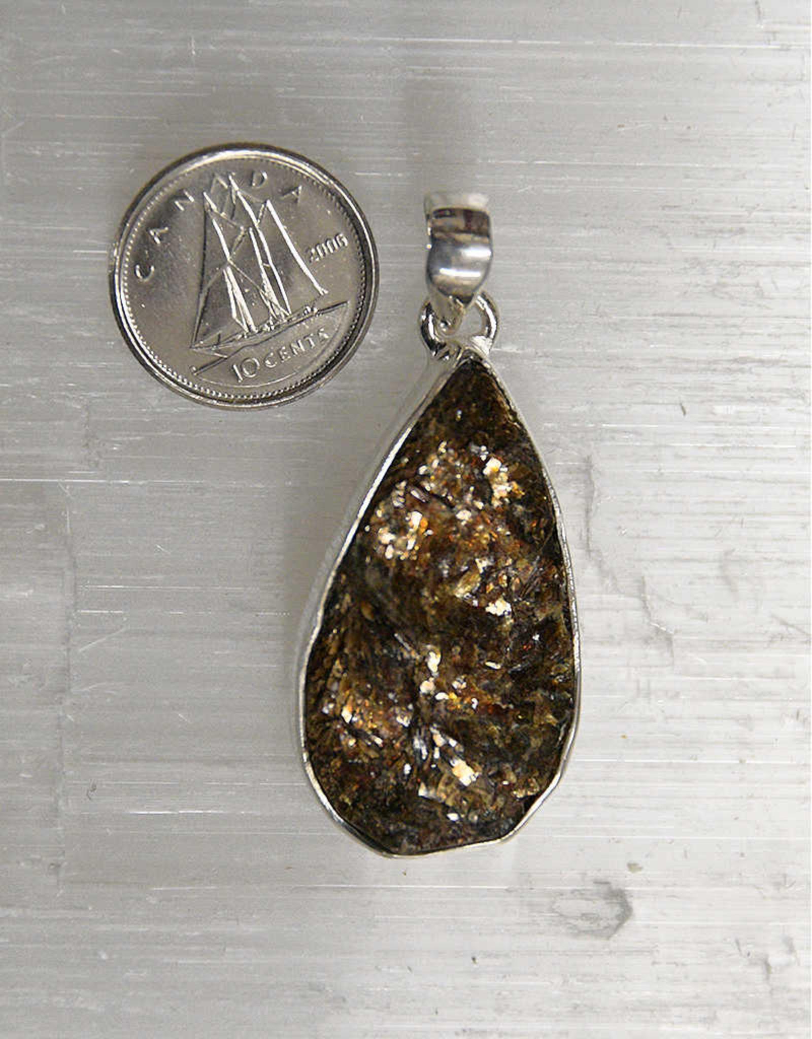 Astrophyllite Pendant B Sterling Silver