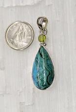 Azurite & Malachite Pendant F Sterling Silver