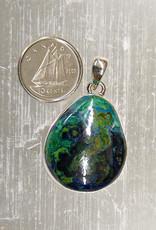 Azurite & Malachite Pendant H Sterling Silver