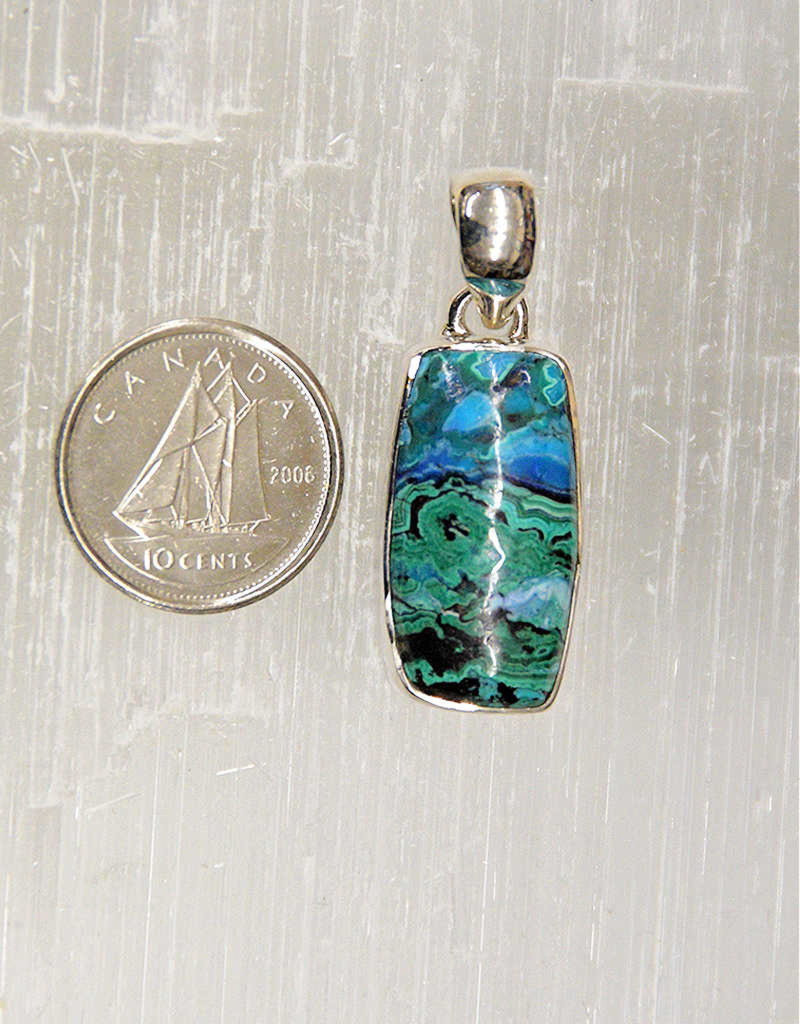 Azurite & Malachite Pendant C Sterling Silver