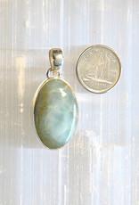Blue Aragonite Pendant Sterling Silver