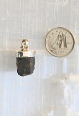 Black Tourmaline Pendant E Sterling Silver