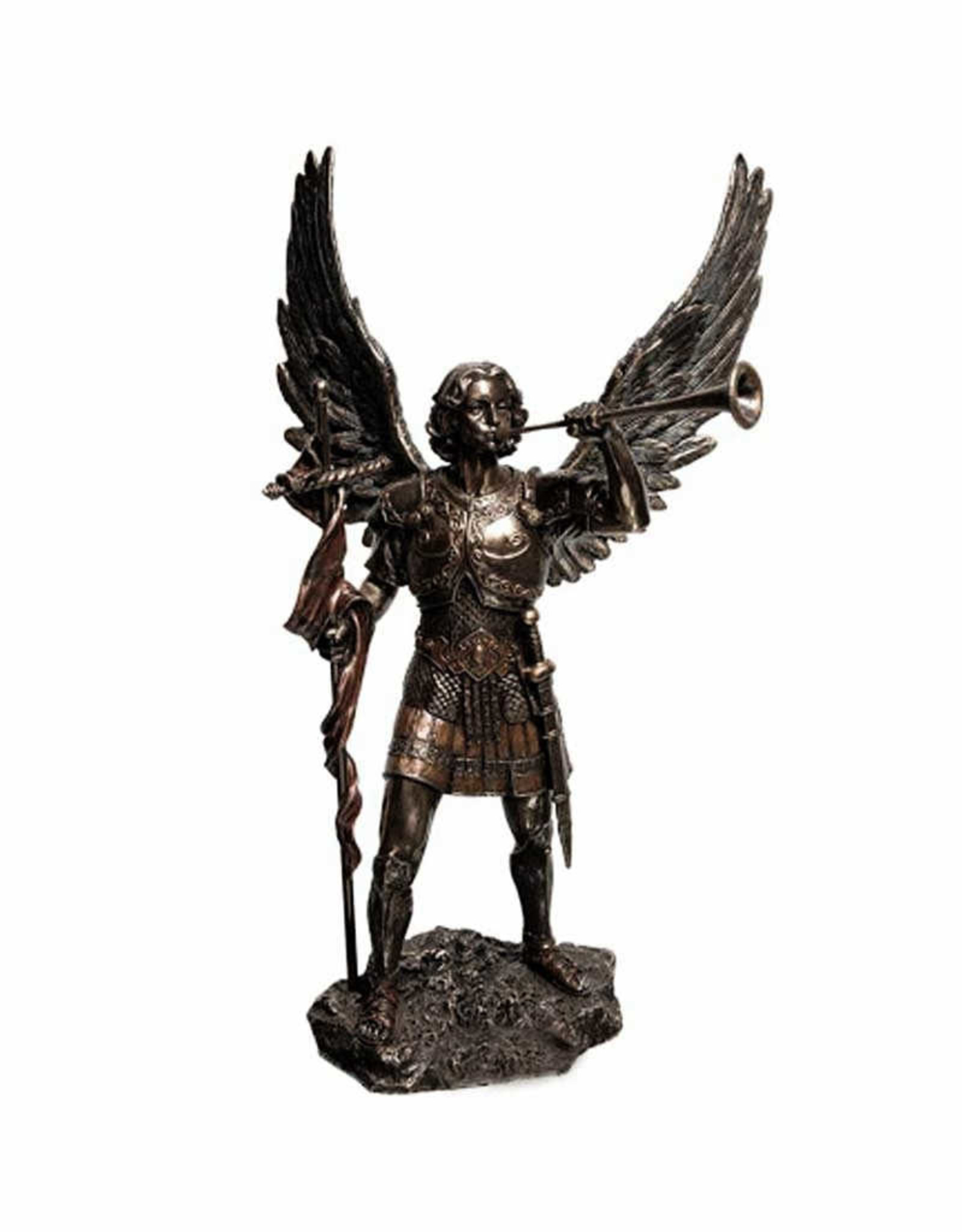 Wise Unicorn Archangel Gabriel with Trumpet - Mini Statue