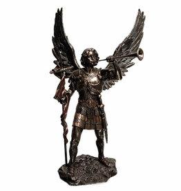 "Wise Unicorn Archangel Gabriel w Trumpet  Statue -  2 1/3"" x 1 4/7"" X 4 1/3"""
