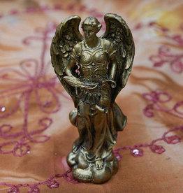 "Pacific Trading Archangel Gabriel Golden Statue  2 1/3"" x 1 1/2"" x 4 7/8"
