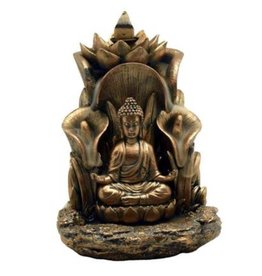 "Fantasy Gifts Buddha Backflow Incense Burner 5 1/2""  x 5 """