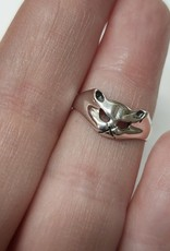 Cat Face Ring - Size 9 Sterling Silver