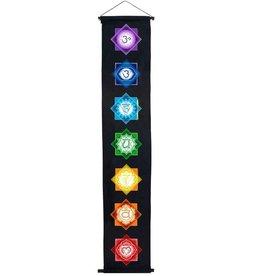 "Chakra Banner Black 12"" x 60"""