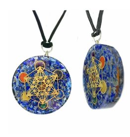 Lapis Lazuli Metatron Orgonite Necklace