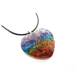 Chakra Heart Orgonite Necklace