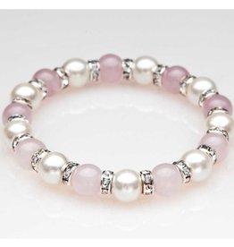 MagneHealth Rose Quartz Magnetic Bracelet w Crystals