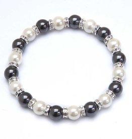 MagneHealth Hematite Magnetic Bracelet w Crystals