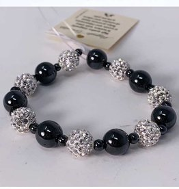 MagneHealth Hematite Magnetic Bracelet w Crystal Balls