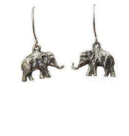 Blueprint Elephant Pewter Earrings