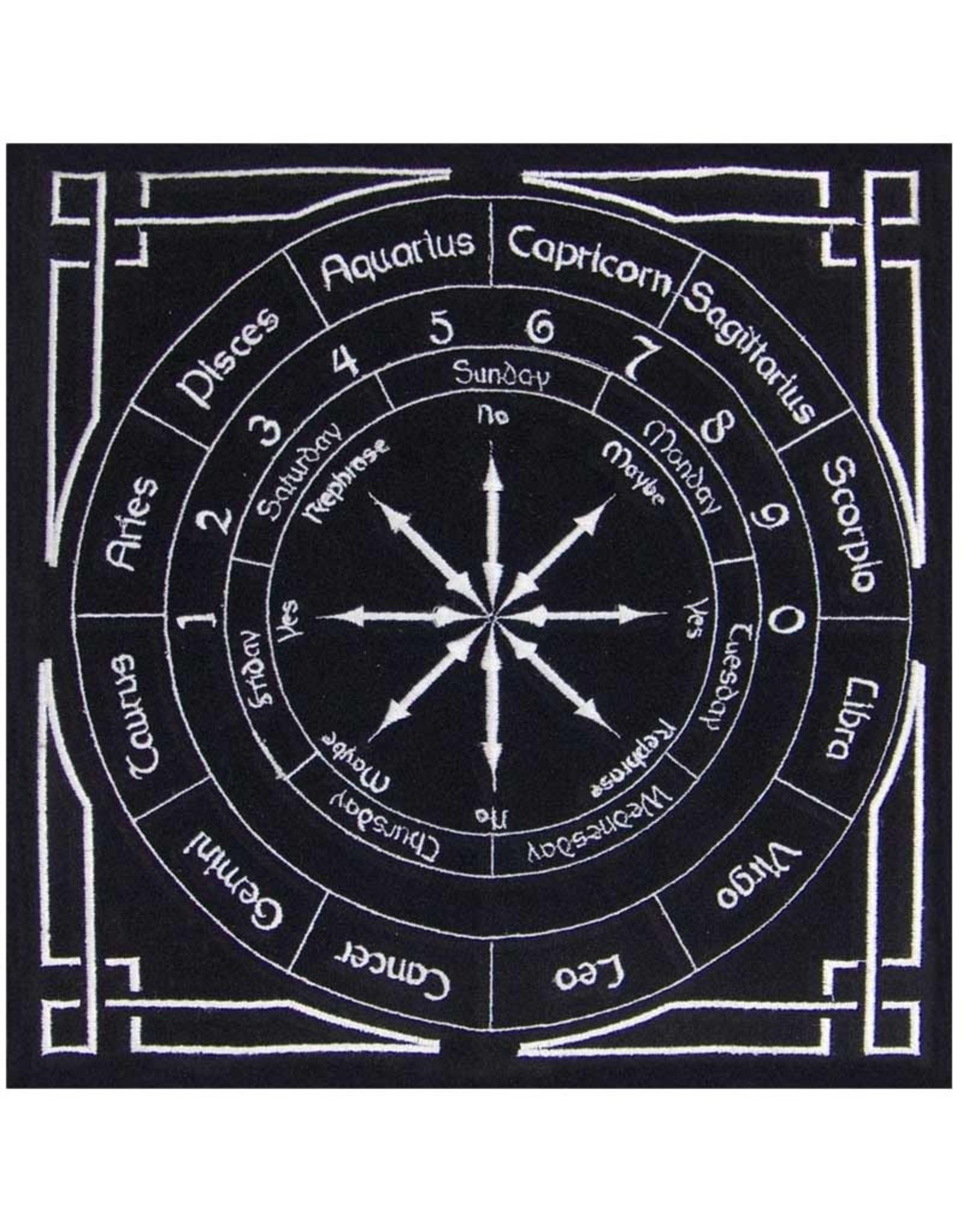 "Black Astrology Pendulum Mat 12"" x 12"""