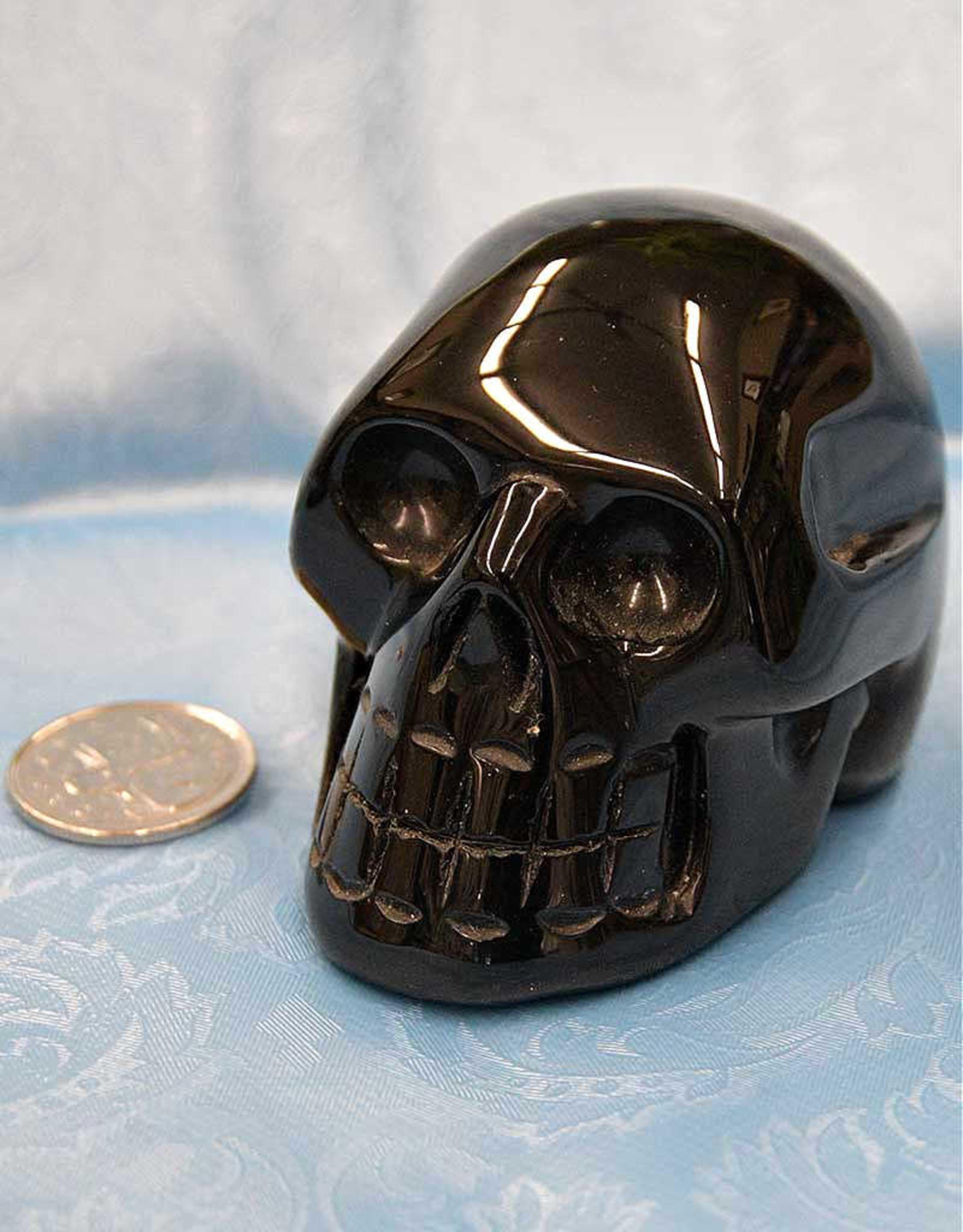 """Black Obsidian Skull  3"""""""