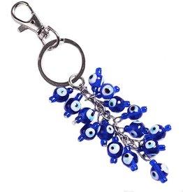 Evil Eye Cluster Keychain