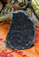 Black Amethyst Standing Cluster $103