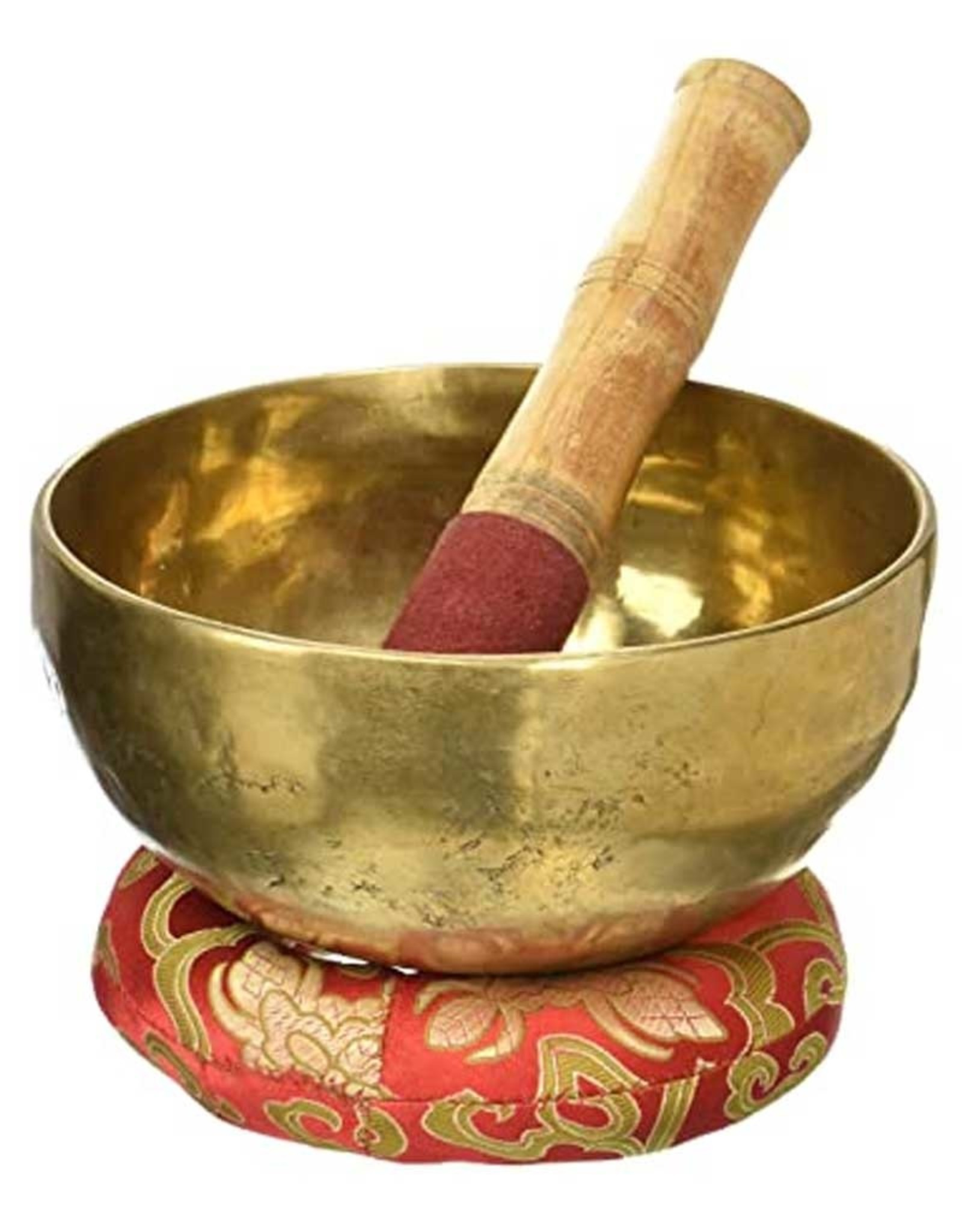 """Brass Hand Hammered Large (5.75- 6.25"""") Singing Bowl - D (Sacral Chakra )"""
