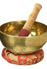 "Brass Hand Hammered Large (5.75- 6.25"") Singing Bowl - A (Third Eye Chakra )"