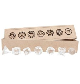 Platonic Solids Set of 7 - Clear Quartz