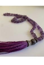 Amethyst Mala with Purple Tassle