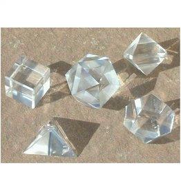 Platonic Solids Set  - Clear Quartz