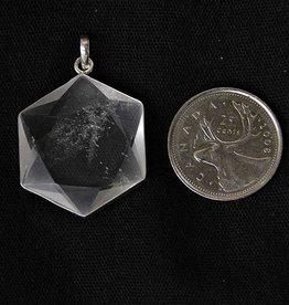 Metatron's Cube / Star of David Quartz Pendant Sterling Silver