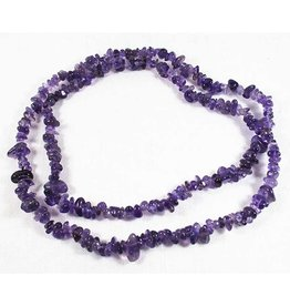 """Amethyst Chip Necklace 36"""""""