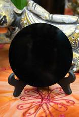 "Black Obsidian Mirror $69   4.75"""
