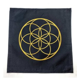 Seed of Life Crystal Grid Mat  - 12″ x 12″