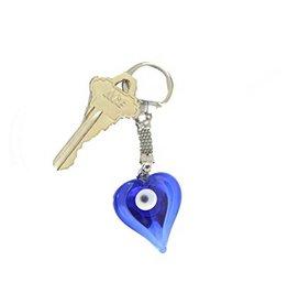 Evil Eye Heart Keychain