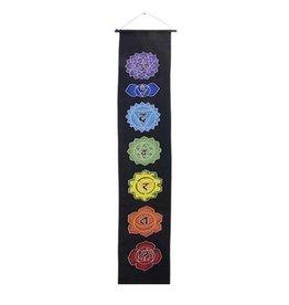 "Chakra Banner 12"" x 62"" - Black Background"