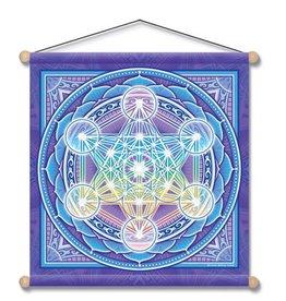 """Mandala Arts Metatron Mandala Temple Banner 30"""" x 30"""""""