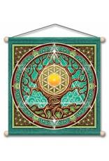"Banner Ancient Wisdom 15"" x 15"""