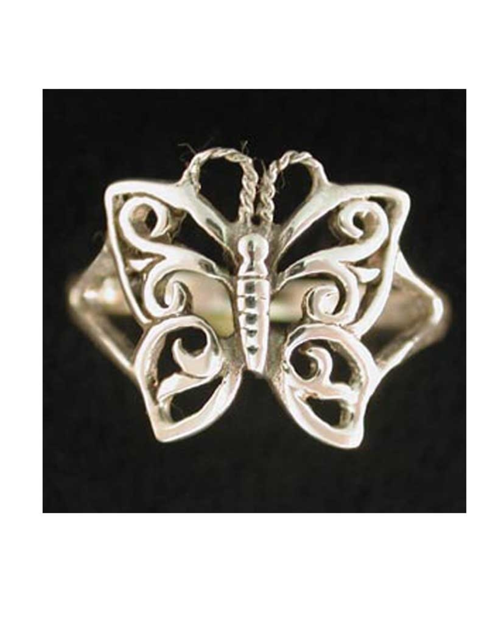 Butterfly Ring Sterling Silver - Size 4