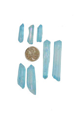 Aqua Aura Quartz Points - Small $4