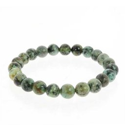 African Turquoise Bracelet 8mm