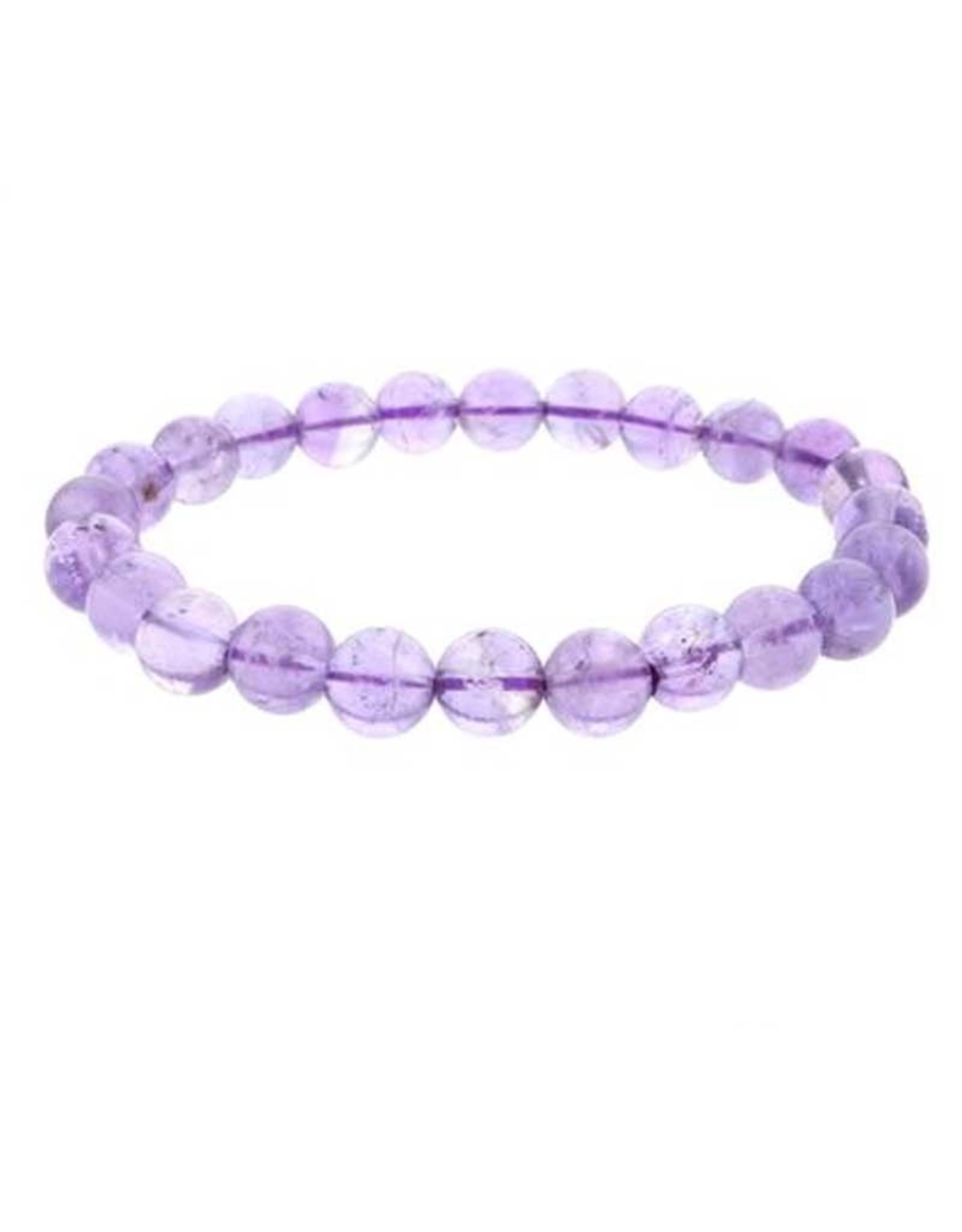 Amethyst Light Violet Bracelet 8mm